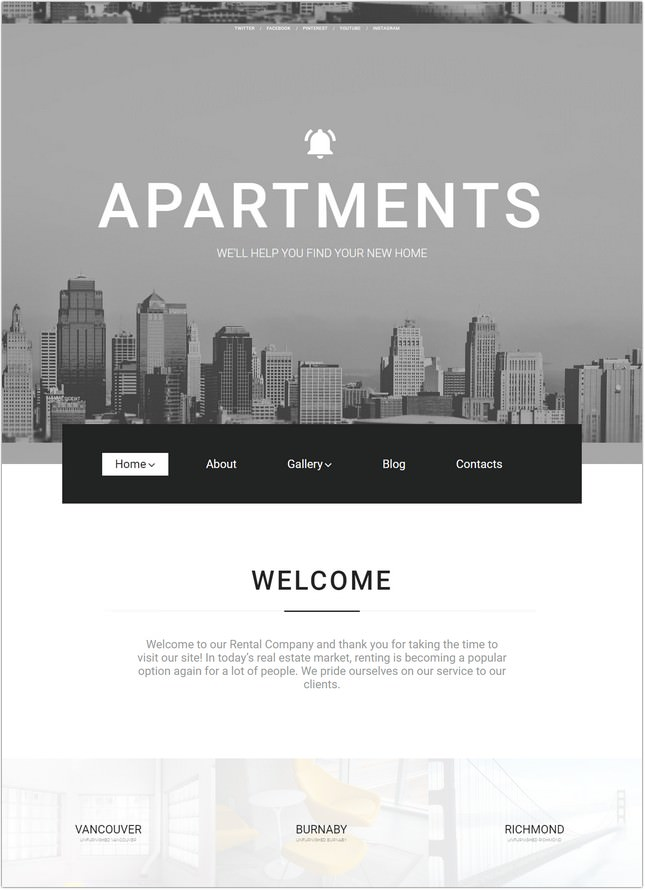 Real Estate Agency Responsive Theme