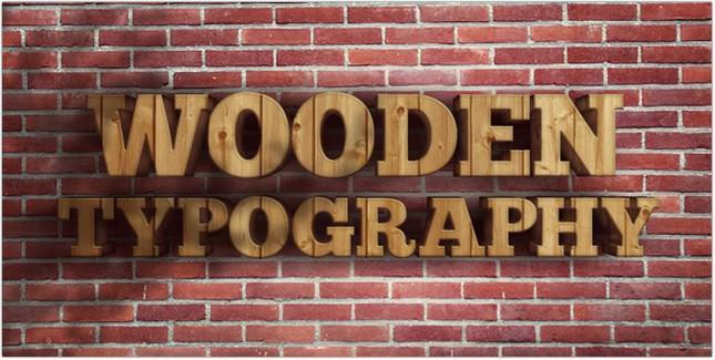 Realistic Wooden 3D Text