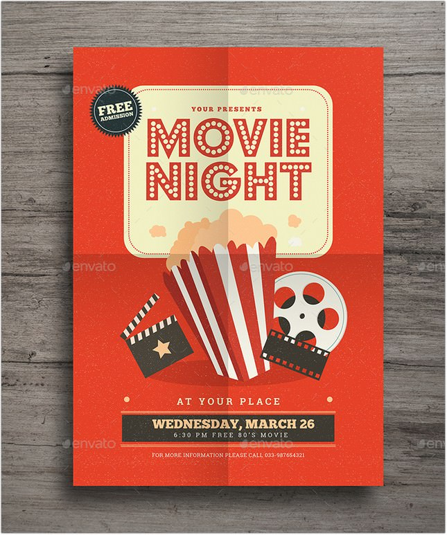 Retro Movie Festival Flyer