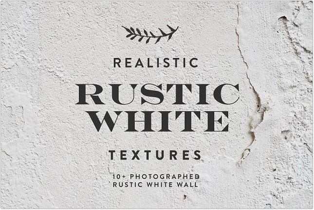Rustic White Texture Background