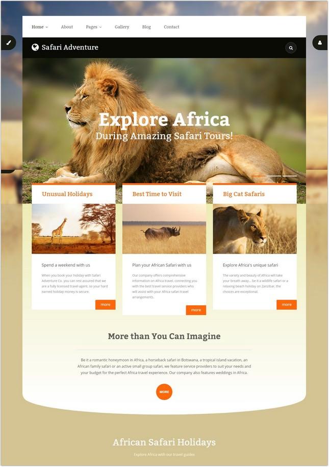 Safari Adventure PHP Template