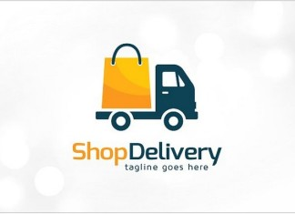 Shop Delivery Logo Template