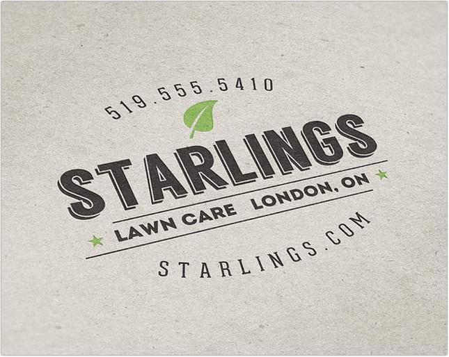 starlings lawn care logo