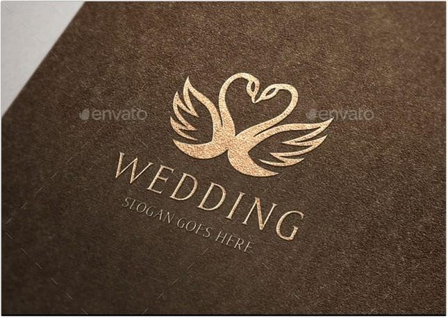 Swan Wedding Crest Logo