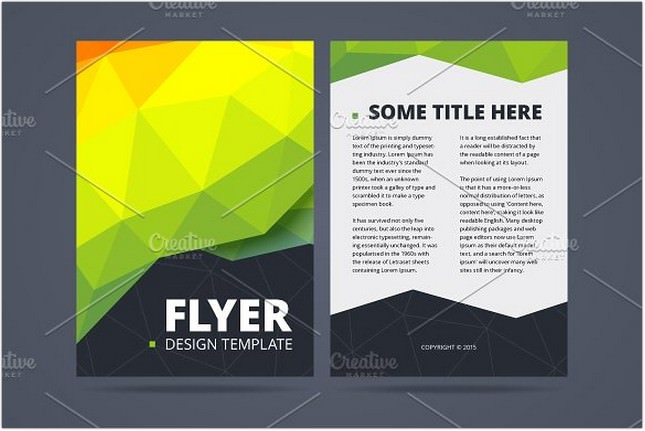 Two Sided Flyer Design Template