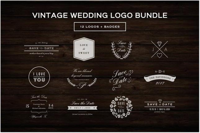 Vintage Wedding Logos
