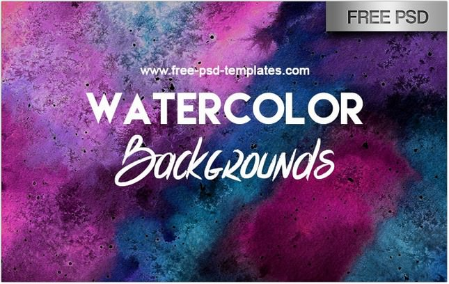 WATERCOLOR BACKGROUNDS BUNDLE IN PSD