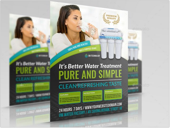 Water Treatment Services Flyer Template
