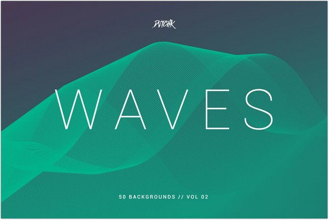 Waves Network Lines Backgrounds Vol. 02