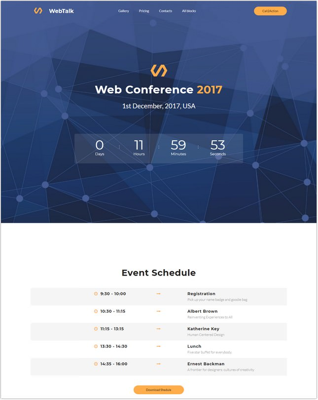 Web Talk - Conference PHP Template