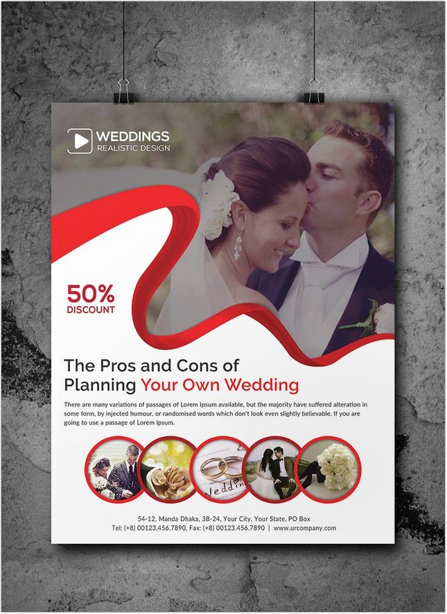 22 awesome wedding planner flyer template designs psd ai