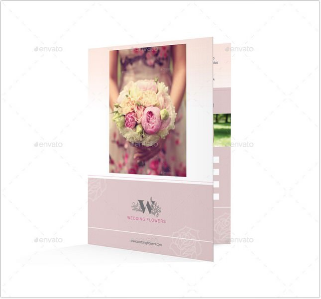 Wedding Planner Bifold Halffold Brochure