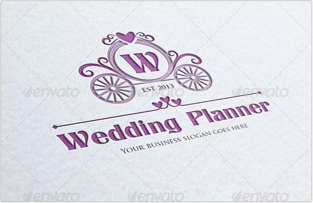 Wedding Planner Letter Crest Logo