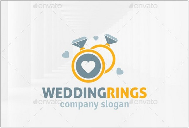 Wedding Rings Logo Template