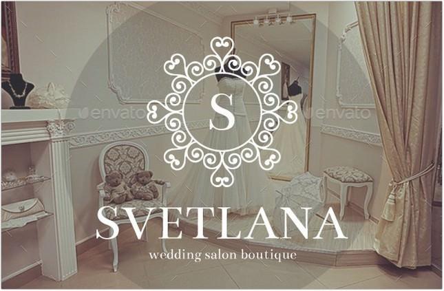 Wedding Salon Boutique Elegant Logo