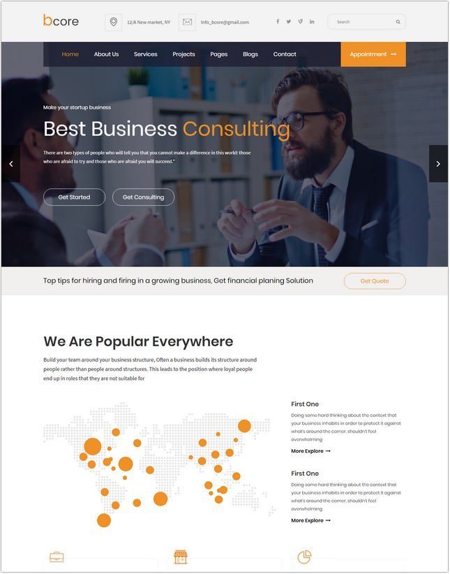 bcore - Business Services Template