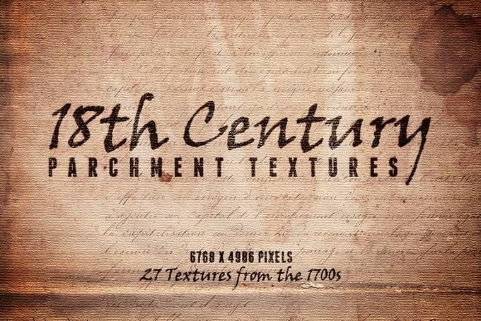 18th Century Parchment Textures