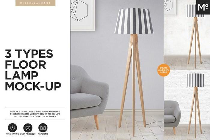 3 Types Floor Lamp Mock-up