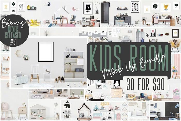 Kids Room MockUps + BONUS