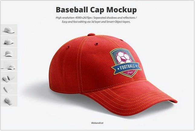 3D Baseball hat Mockup