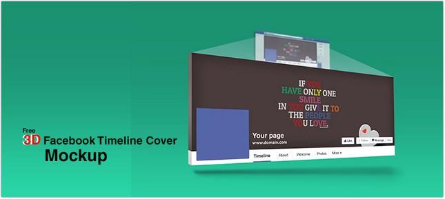 3D Facebook Timeline Cover Mockup template