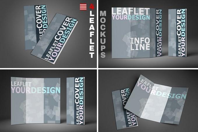 4 Leaflet Mockup