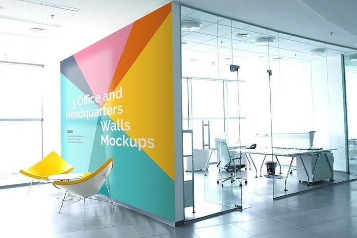 5 Free PSD Office Mockups
