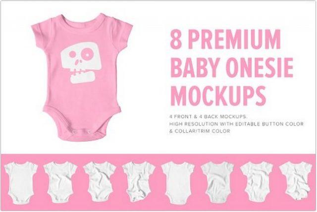 8 Premium Baby Shirt Onesie Mockup