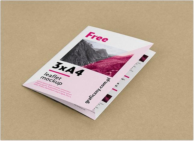 A4 Trifold Leaflet Mockup