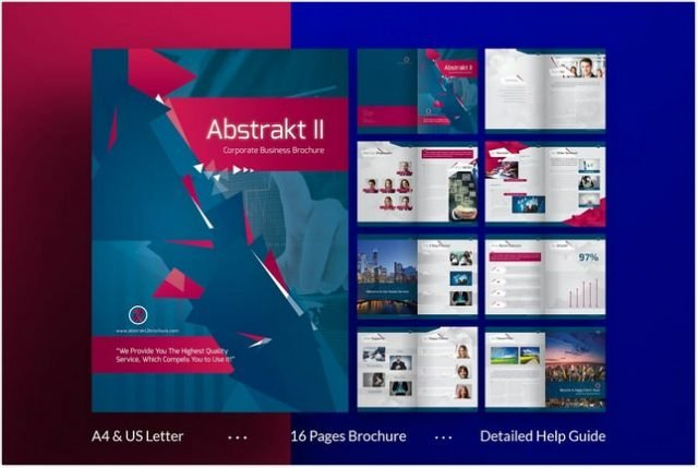 Abstract 2 Brochure template