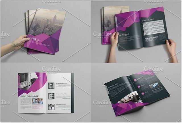 Abstract Bi fold Brochure