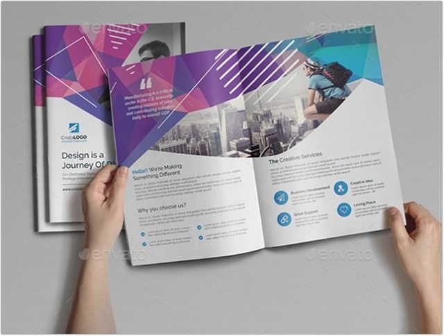 Abstract Bi fold Brochure template