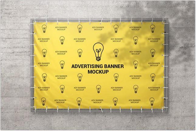 Advertising Banner Mockup psd