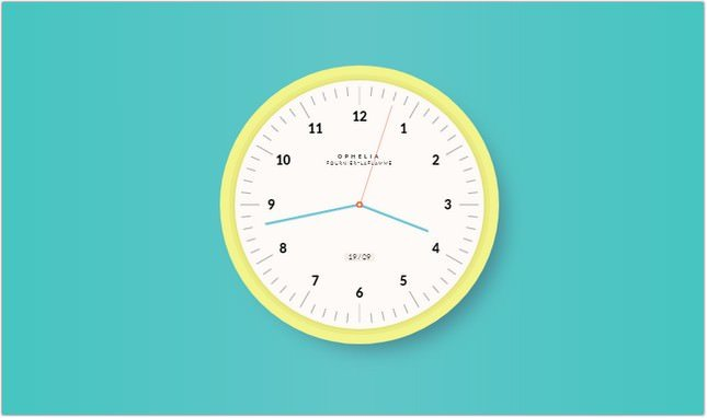 Animated Clock css
