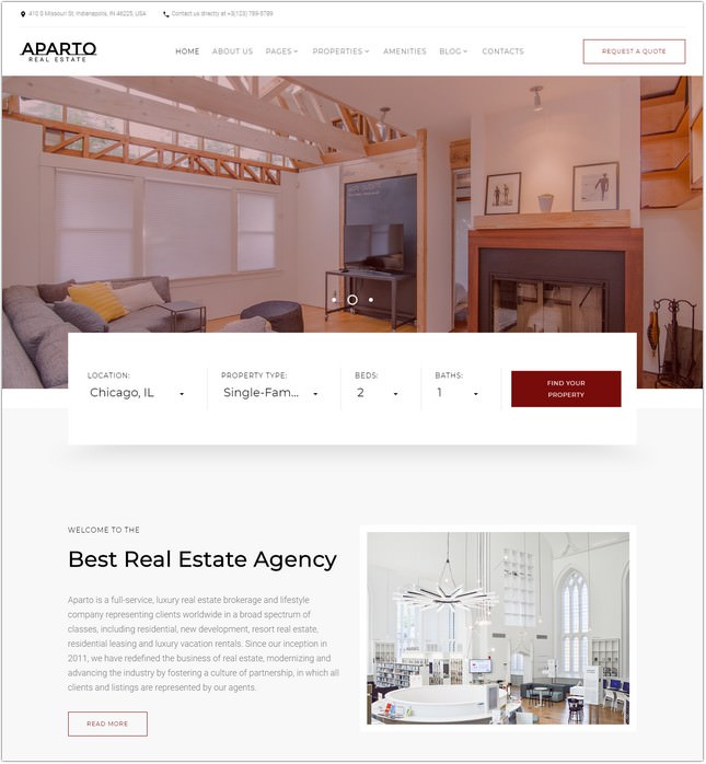 Real Estate Responsive Multipage HTML Website Template