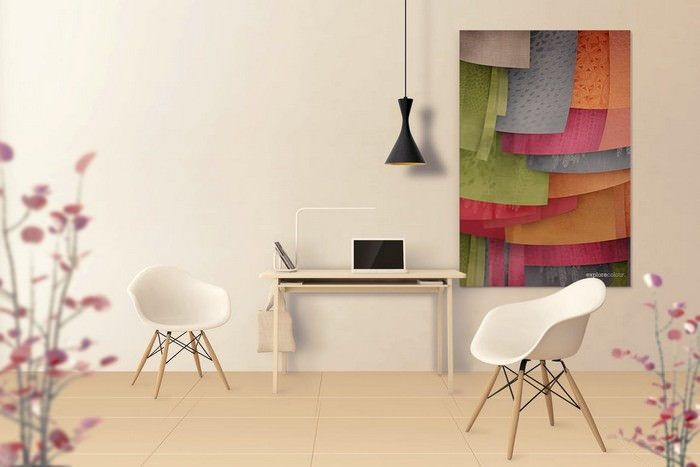 Art Wall Mockups - Interior Work Desk