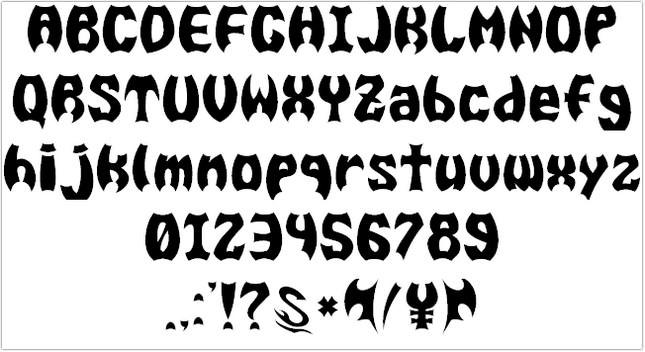 BAT MEN G Font