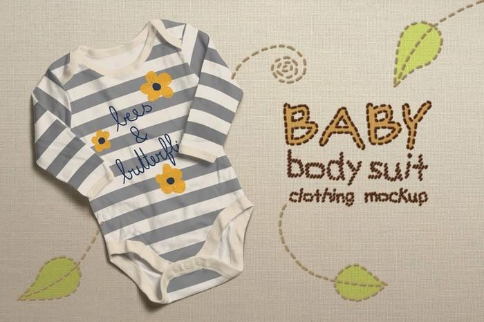 Baby Bodysuit Clothing Mock-up # 2