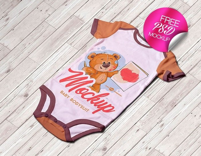 Baby Bodysuit Mock-UP in PSD