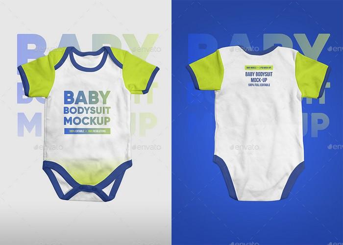 Baby Bodysuit Onesie Mock-up