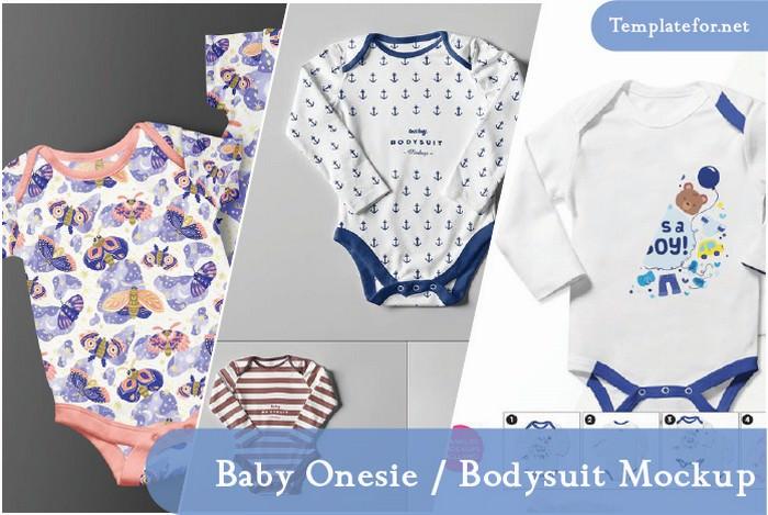 Baby Onesie Bodysuit Mockup
