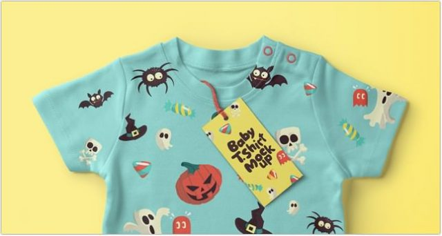Baby T-shirt Psd Mockup