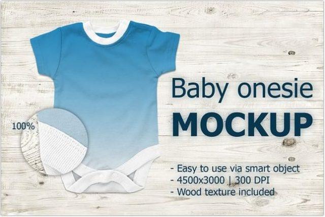 Baby onesie Mockup template