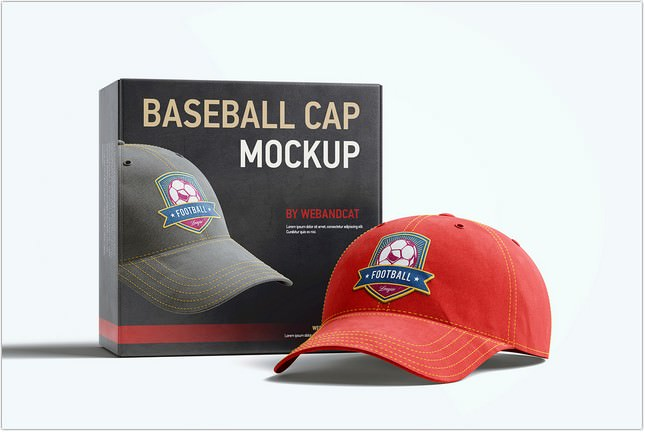 Baseball hat 3D Mockup