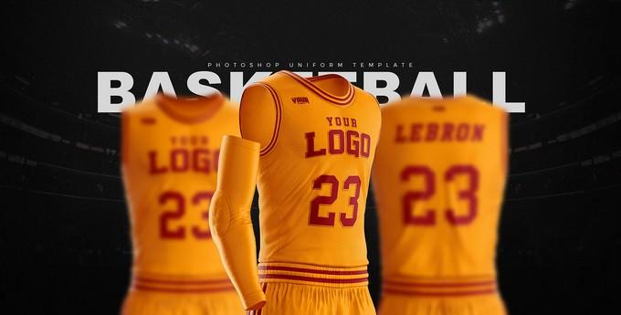Basketball Uniform Jersey PSD template