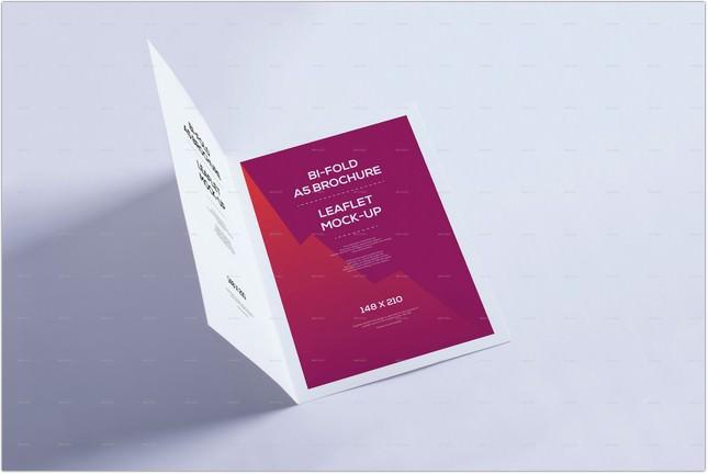 Bi-Fold A5 Brochure - Leaflet Mock-up