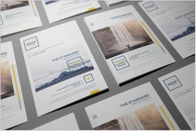 Bi-Fold Leaflet Mockup