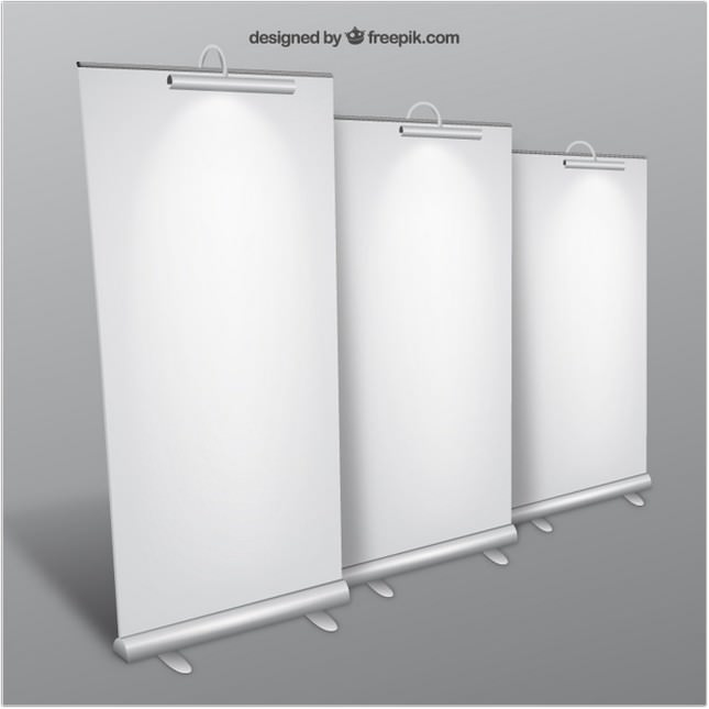 Blank Roll-up Banners psd