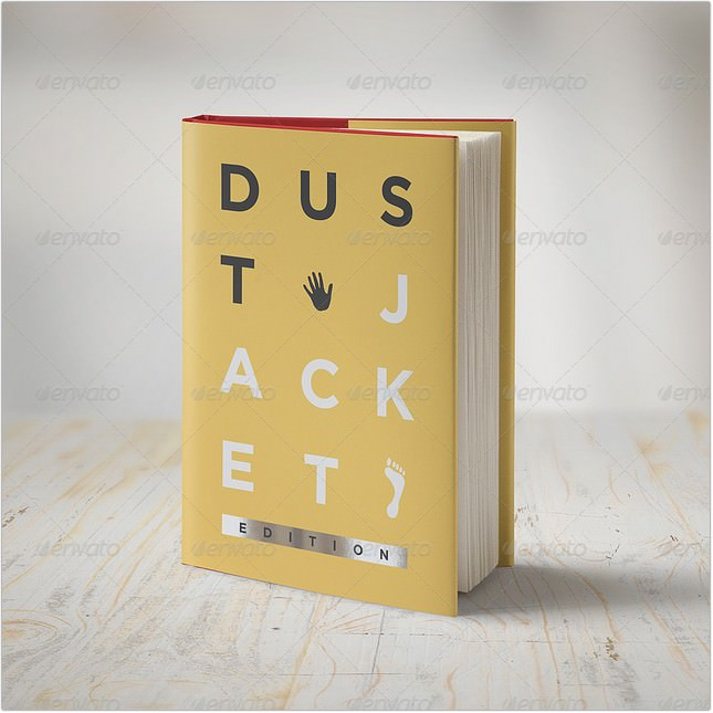 Book Mock-Up Dust Jacket Edition Template