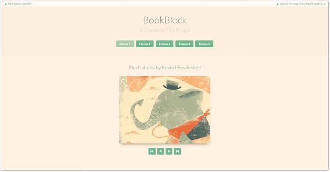 BookBlock A Content Flip Plugin
